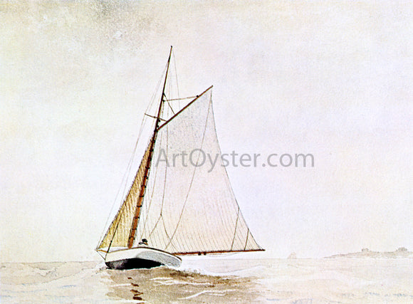 Winslow Homer Yachting, off Cloucester - Canvas Art Print