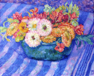 Theo Van Rysselberghe Yellow Bouquet - Canvas Art Print