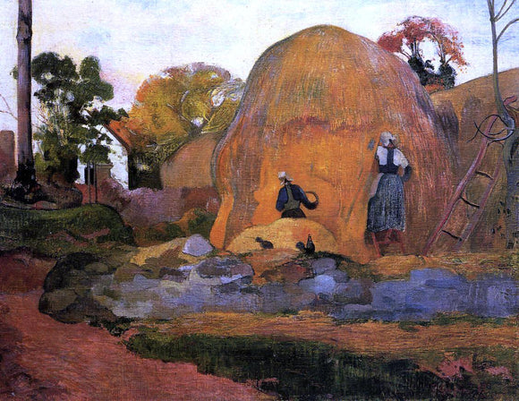 Paul Gauguin Yellow Haystacks (also known as Golden Harvest) - Canvas Art Print