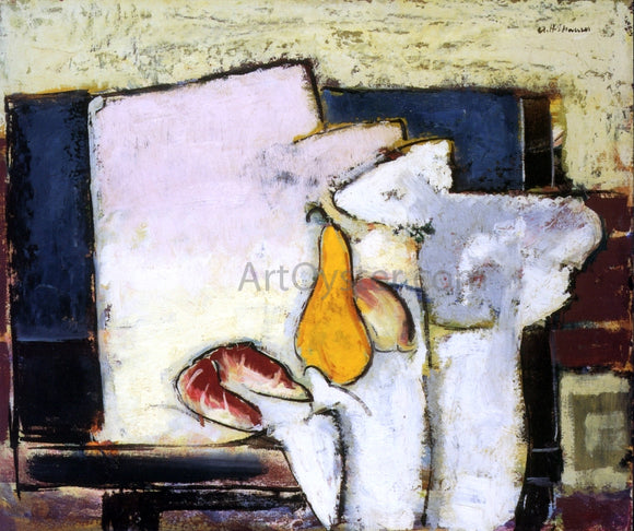 Alfred Henry Maurer Yellow Pear and Roll - Canvas Art Print