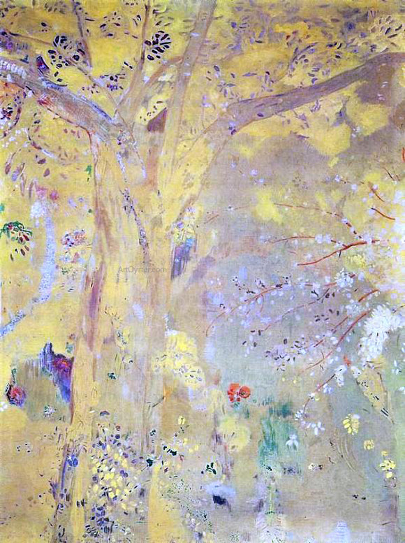 Odilon Redon Yellow Tree - Canvas Art Print