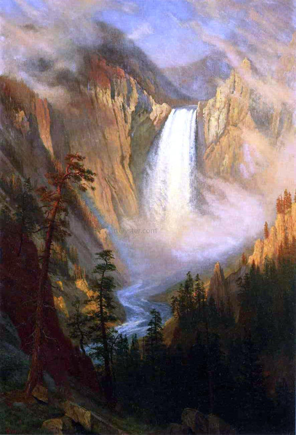 Albert Bierstadt Yellowstone Falls - Canvas Art Print