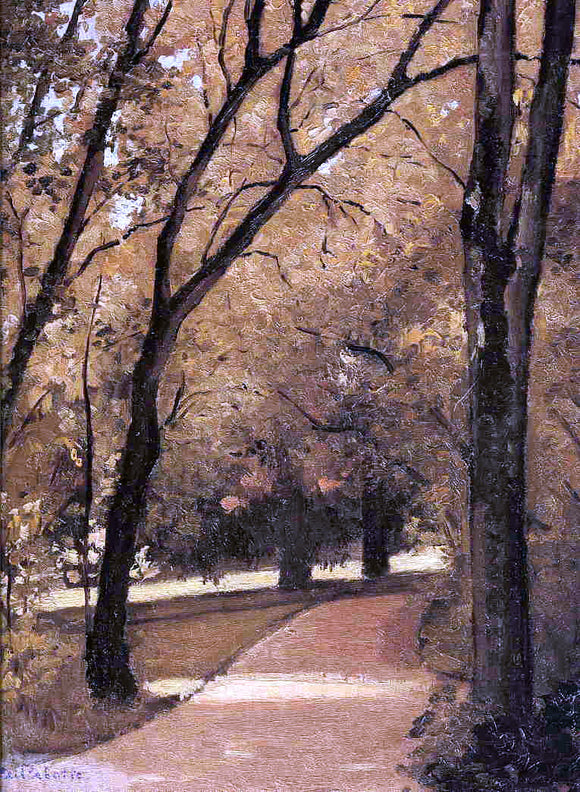 Gustave Caillebotte Yerres, Path Through the Old Growth Woods in the Park - Canvas Art Print