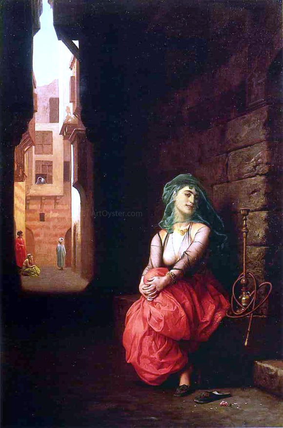 Jean-Leon Gerome Young Arab Woman with Waterpipe - Canvas Art Print