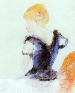 Pierre Auguste Renoir Young Blond Girl - Canvas Art Print