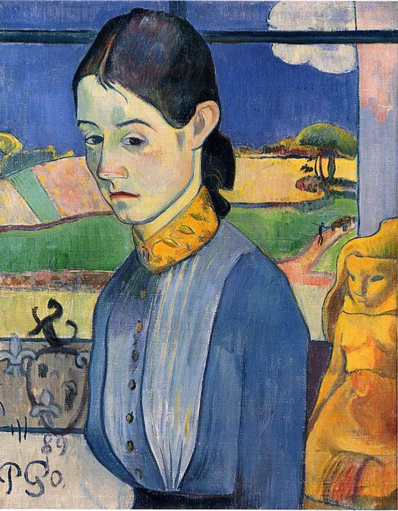 Paul Gauguin Young Breton Woman - Canvas Art Print
