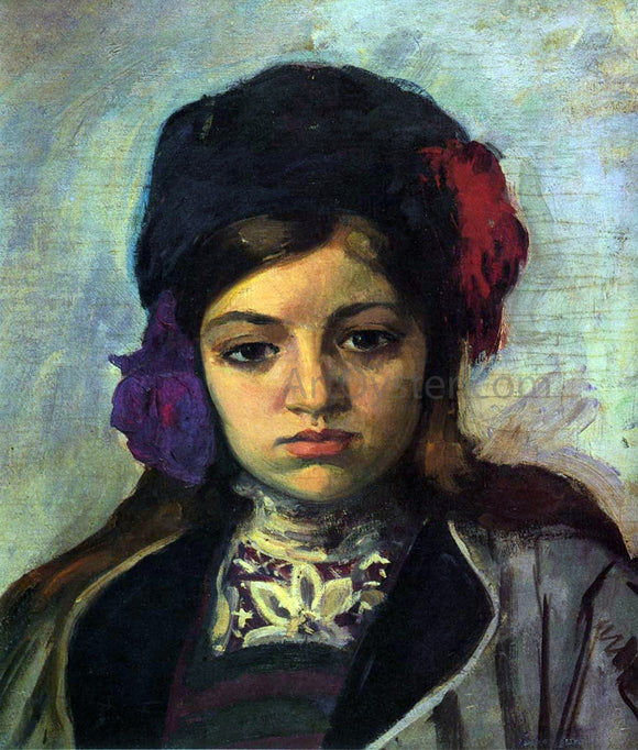 Henri Lebasque Young Child in a Turban - Canvas Art Print