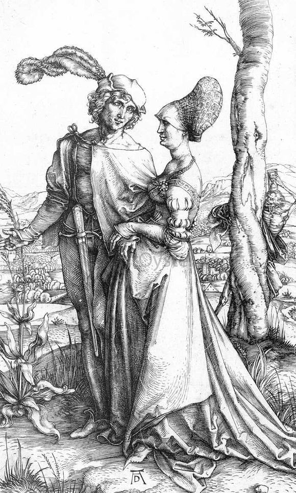 Albrecht Durer Young Couple Threatened by Death; or, the Promenade - Canvas Art Print