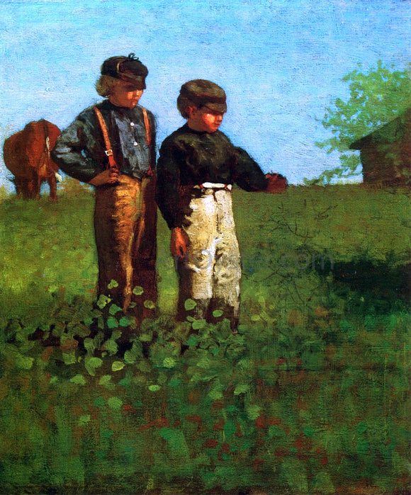 Winslow Homer Young Farmers - Canvas Art Print