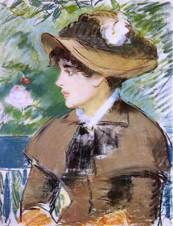 Edouard Manet Young Girl on a Bench - Canvas Art Print