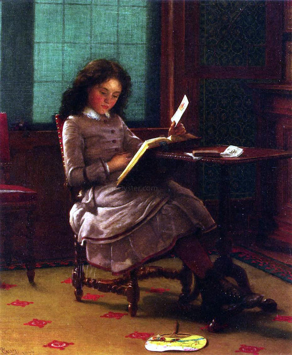 Seymour Joseph Guy Young Girl Reading - Canvas Art Print