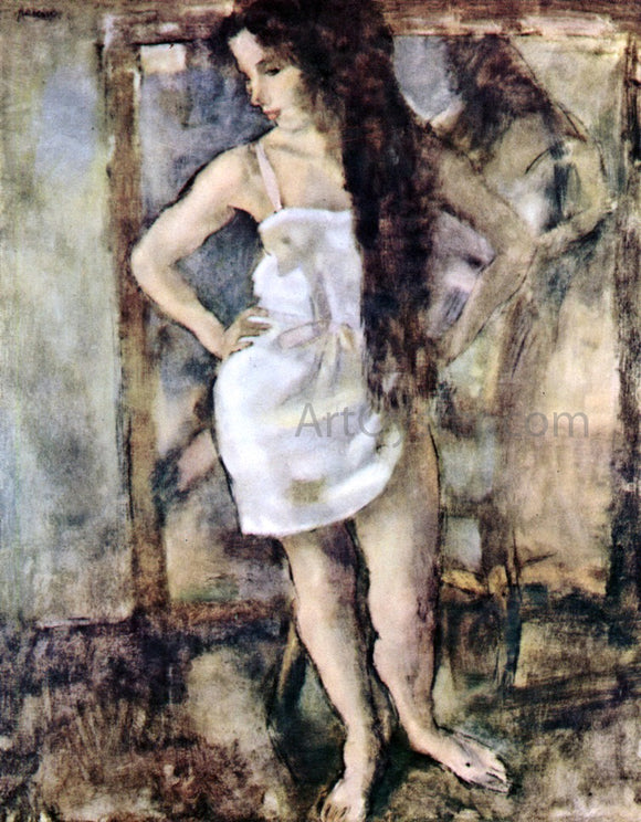 Jules Pascin Young Girl Standing - Canvas Art Print