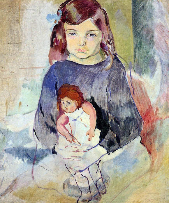 Jules Pascin A Young Girl with a Doll - Canvas Art Print