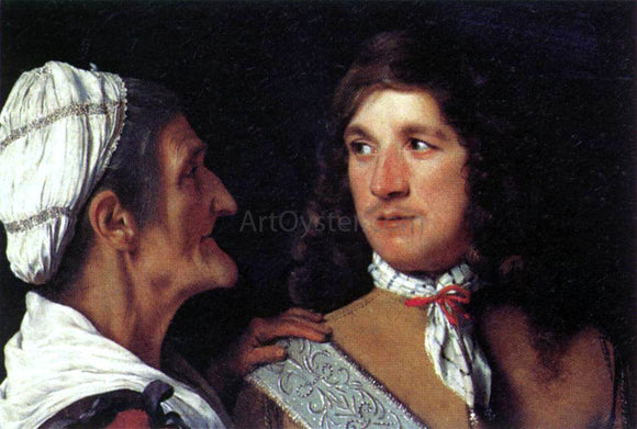 Michiel Sweerts Young Man and the Procuress - Canvas Art Print