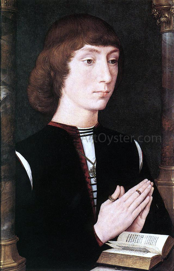 Hans Memling Young Man at Prayer - Canvas Art Print