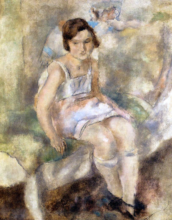 Jules Pascin Young Marcelle - Canvas Art Print