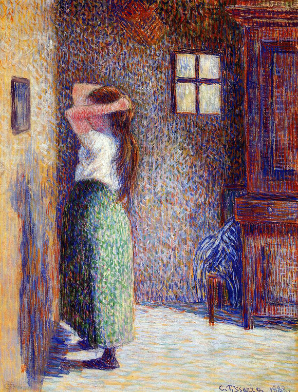 Camille Pissarro Young Peasant at Her Toilette - Canvas Art Print
