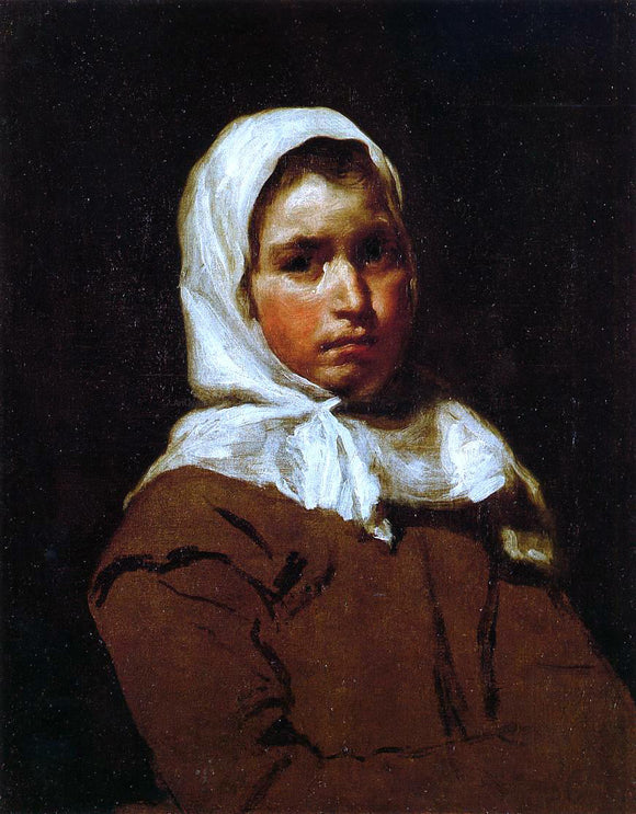 Diego Velazquez Young Peasant Girl - Canvas Art Print