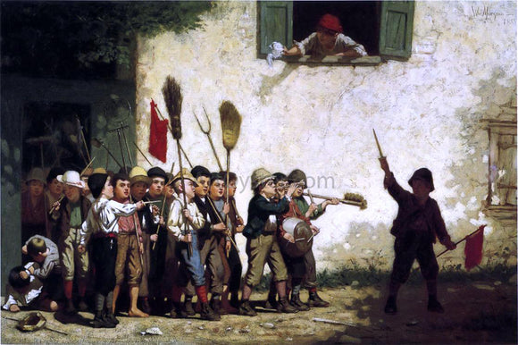 William Penn Morgan Young Soldiers - Canvas Art Print