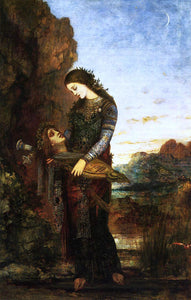 Gustave Moreau Young Thracian Woman Carrying the Head of Orpheus - Canvas Art Print