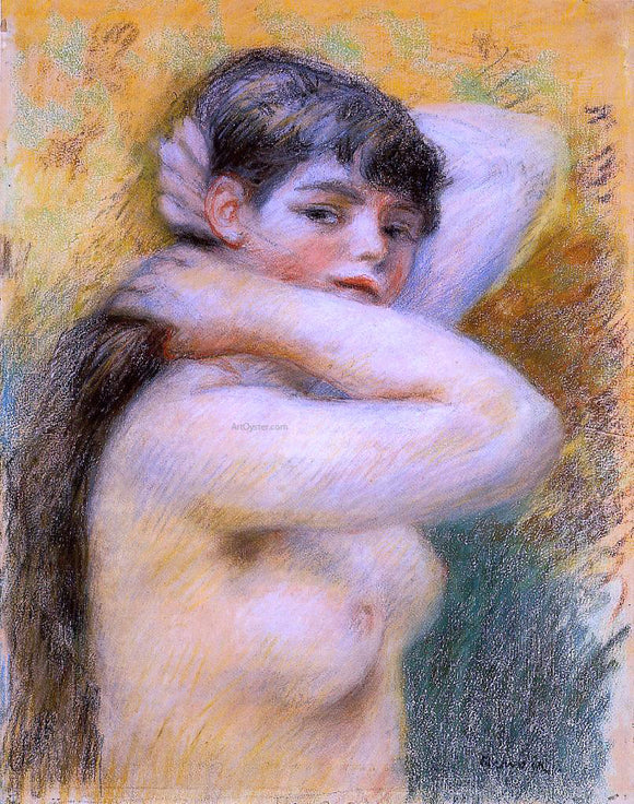 Pierre Auguste Renoir Young Woman at Her Toilette - Canvas Art Print