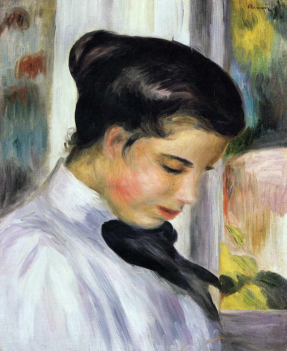 Pierre Auguste Renoir Young Woman in Profile - Canvas Art Print