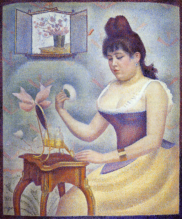 Georges Seurat Young Woman Powdering Herself - Canvas Art Print