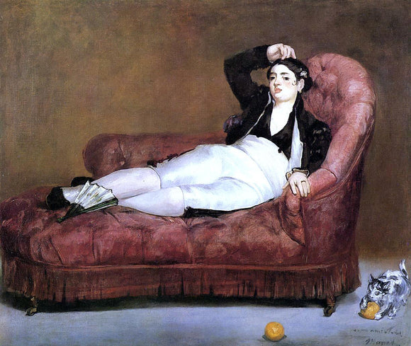 Edouard Manet Young Woman Reclining - Canvas Art Print