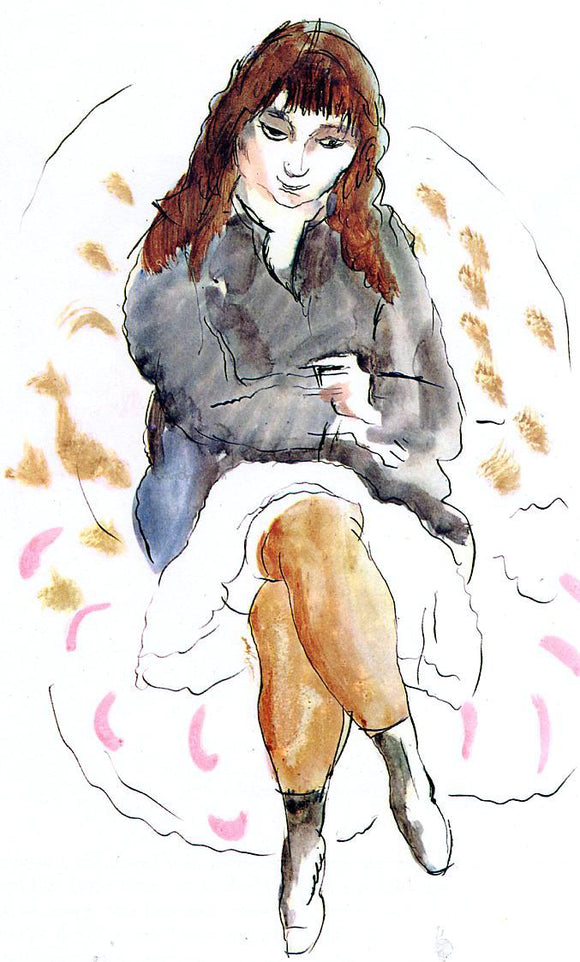 Jules Pascin Young Woman Seated - Canvas Art Print