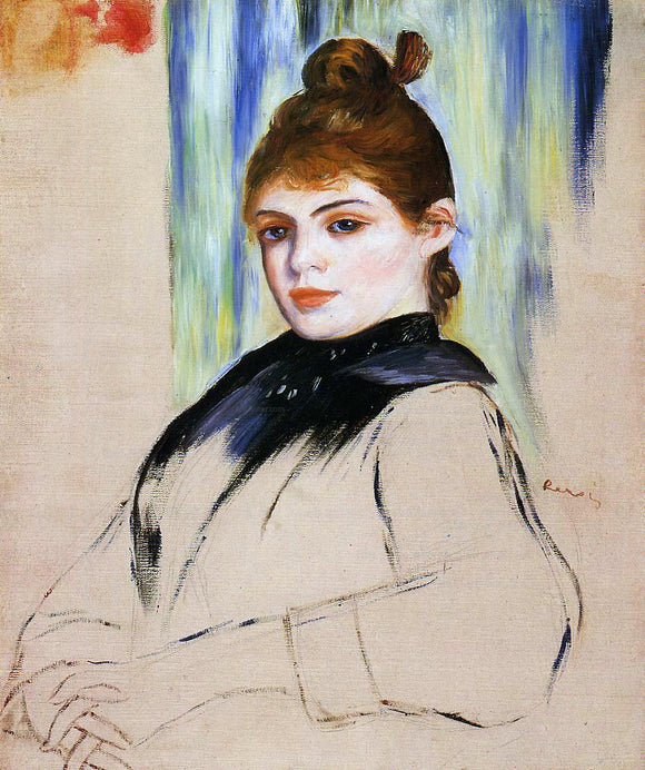 Pierre Auguste Renoir Young Woman with a Bun in Her Hair - Canvas Art Print