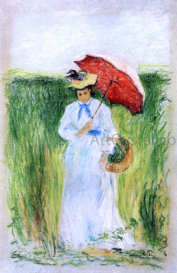 Camille Pissarro Young Woman with an Umbrella - Canvas Art Print