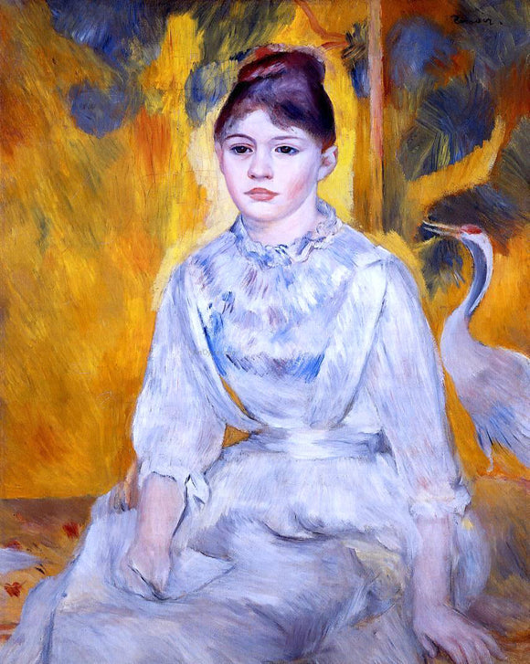 Pierre Auguste Renoir Young Woman with Crane - Canvas Art Print