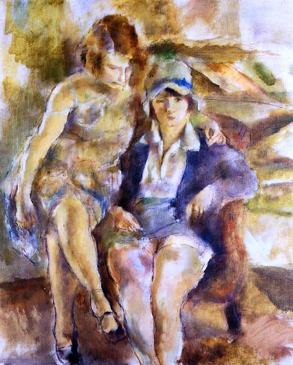 Jules Pascin Zimette and Mirelle - Canvas Art Print