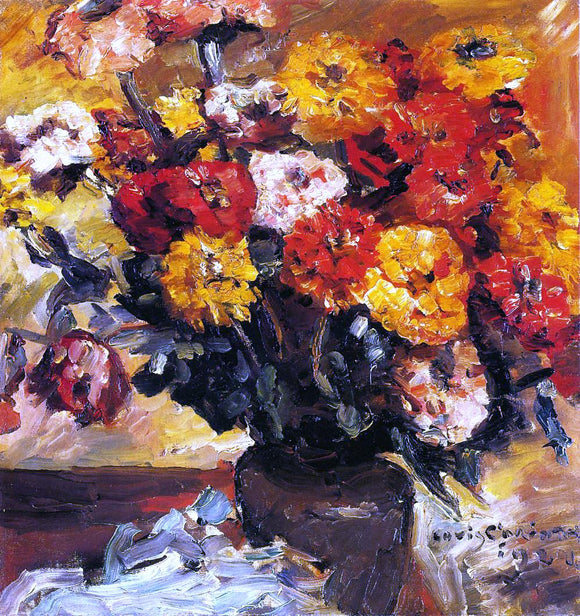 Lovis Corinth Zinnias - Canvas Art Print