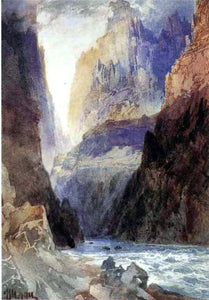 Thomas Moran Zion Canyon - Canvas Art Print