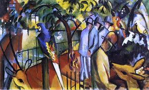 August Macke Zoological Garden I - Canvas Art Print