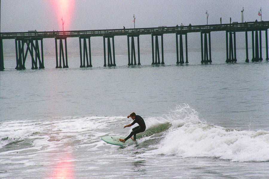 Surfers at C-Street Ventura - Canon A-1 w/ 100-300mm - Camera Test