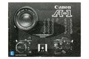 Canon A-1 Camera Manual