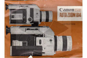 Canon Auto Zoom 814 Super 8 Camera Manual