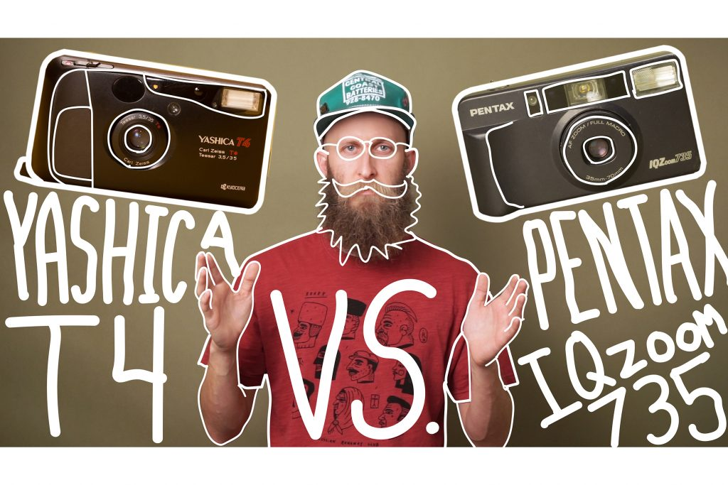 Video: Yashica T4 vs. Pentax IQZoom 735