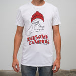 One In The Hand T-Shirt (White w/ Red)