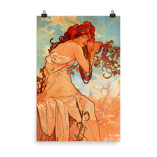 Alphonse Mucha - Four Seasons - Summer