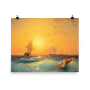 Ivan Aivazovsky - American ships off the Rock of Gibraltar