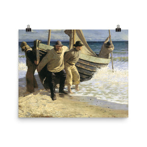 Oscar Björck - Launching the boat. Skagen