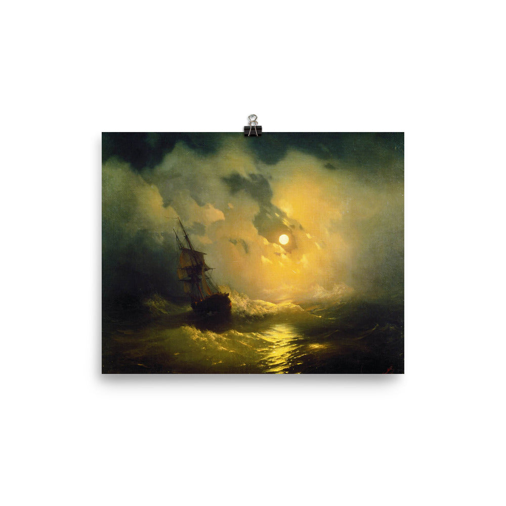 Ivan Aivazovsky - Stormy sea at night