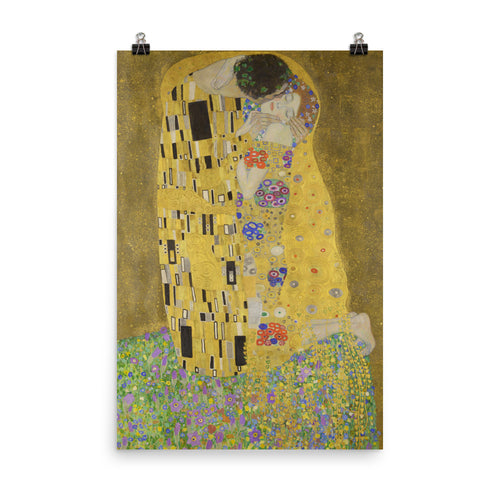 Gustav Klimt - The Kiss - painting