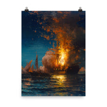 Load image into Gallery viewer, Edward Moran - Burning of the Philadelphia