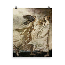 Load image into Gallery viewer, Arthur Rackham - Scene from Richard Wagner's operatic Ring Cycle