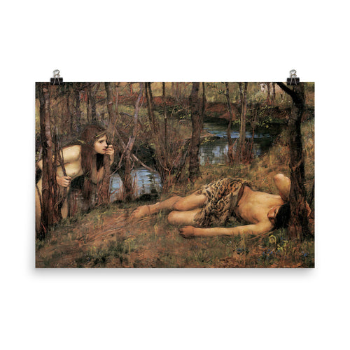 John William Waterhouse - A Naiad (Hylas with a Nymph) - painting