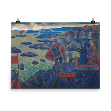 Load image into Gallery viewer, Nicholas Roerich - Ready for the Campaign (The Varangian Sea)